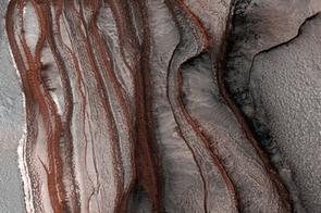 North Polar Layered Deposits (NASA/JPL/University of Arizona)