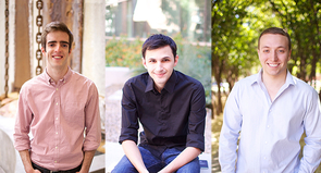 The NoteBowl executive team is composed of recent UA graduates Alec Stapp (left), Alex Slaughter and Andrew Chaifetz.