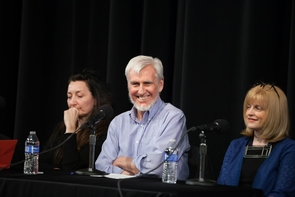 """Nobel Prize laureate John O'Keefe, with May-Britt Moser (left) and Eleanor Maguire, says the UA's Carol Barnes """"has told us as much about how the brain ages as anyone else."""" (Photo: John de Dios/UANews)"""