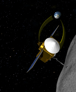 OSIRIS-REx will rendezvous with asteroid 1999 RQ36, extend a sample collecting device and return at least 60 grams (a little over 2 ounces) of pristine material to Earth for analysis. (Image: NASA/GSFC/The University of Arizona)