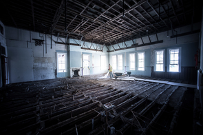 Sustainable renovations to the building's interior will include a sophisticated lighting system that turns lights off automatically when rooms are unoccupied.
