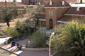 Constructed in 1891, the University of Arizona's oldest building has stood while the campus's more modern buildings rose around it over the years. (Photo by Beatriz Verdugo/UANews)