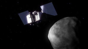 NASA's OSIRIS-REx spacecraft will rendezvous with Bennu and obtain a sample that will be returned to Earth in 2023. (Image: NASA's Goddard Space Flight Center Conceptual Image Lab)