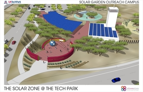 (Click to enlarge) One component of the Solar Zone will be a public demonstration center where community members can visit the UA Tech Park to learn more about the site, its research and the development of products to harness solar energy.