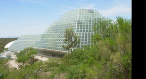 (Click to enlarge) The glassed-in Biosphere 2 structure near Oracle encloses 3.14 acres.