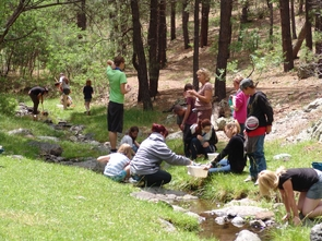 Edessa Carr, water resources educator for Yavapai County Cooperative Extension, leads an aquatics lab.