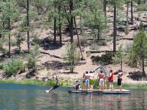 Youth in 4-H enjoy the lake at the James 4-H Camp.