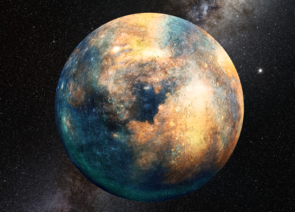 A planetary mass object the size of Mars would be sufficient to produce the observed perturbations in the distant Kuiper Belt. (Image: Heather Roper/LPL)