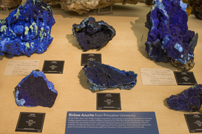 Part of the Princeton collection on display at the UA Mineral Museum (Photo: Robin Tricoles/UA News)