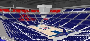 The renovation project will upgrade the scoreboard and the floor of McKale. (Image courtesy of Arizona Athletics)