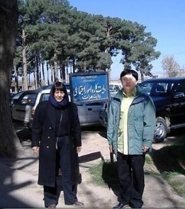 Atifa Rawan and Yan Han visited Herat University in 2006 to evaluate how their project could support the institution. (Photo courtesy of Atifa Rawan)