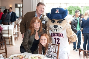 Wilbur T. Wildcat joined the tour in Nogales, Ariz. last week.