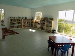 The Resplandor International library in Guanajuato, Mexico, serves as a base for teaching local children to read and write.