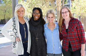 Executive board of the Retail Entreprenurship Club, from left: Jill Moore, Diera Gooden, Sarah Cobb and Nicole St. Germain.