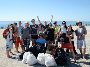 Clubbing at the beach to save the oceans: Members of the Marine Awareness and Conservation Society during a beach cleanup at Rocky Point, Mexico.