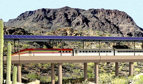 UA students are analyzing the conditions under which very high-speed solar-powered rail between Tucson and Phoenix would make economic sense.