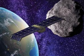 An artist's rendering of Pate's Saberwing asteroid explorer (Image: Jeremiah Pate/Lunasonde)