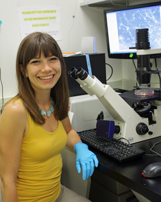 2nd year UA doctoral student Sara Parker led the research. (Photo: Beatriz Verdugo/UANews)
