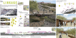 UA students' designs for the proposed I-11 feature sustainable elements, like water harvesting devices and solar panels.