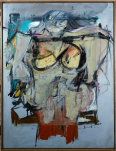 """Woman-Ochre"" by Willem de Kooning, 1954-1955, 30 in. x 40 in., oil on canvas (Photo courtesy of UAMA)"