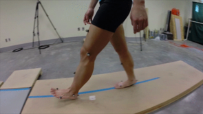 Researchers examined differences between heel-first and toe-first walking in the UA's Evolutionary Biomechanics Lab. (Image courtesy of James Webber)