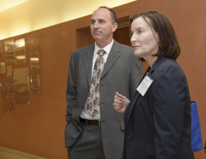 Chris Segrin and Terry Badger are working to reduce symptoms of depression, anxiety and fatigue in breast cancer patients and their family members. To recruit patients, the research team will travel to rural communities to meet with providers and community health workers, among other tactics. (Photo: Kristen Hanning, AHS BioCommunications)