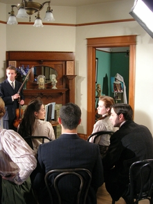 One of the scenes produced by the members of the Arizona Centennial Project include student instruction in The Smith House. (Photo courtesy of Peter Beudert)