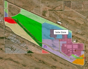(Click to enlarge) The Solar Zone at the UA Tech Park resides on a plot of land amounting to about 200 acres. The site has just welcomed its first tenant.