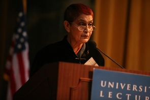 Award-winning scholar Gayatri Spivak will give a public talk Jan. 19 at the UA. (Photo courtesy of Confluence: Center for Creative Inquiry)