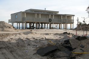 The use of hazard mitigation saved this Bay Head, N.J., home. Hurricane Sandy's storm serge went under the home, which was on stilts, instead of destroying it. (Photo: Wendell A. Davis Jr./FEMA)