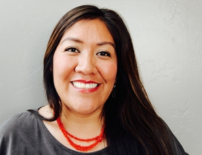 Amanda Tachine is from Ganado, Arizona. Tachine is Náneesht'ézhí Táchii'nii (Zuni Red Running into Water clan) born for Tl'izilani (Many Goats clan). Her maternal grandfather's clan is Tábaahí (Water's Edge) and her paternal grandfather's clan is Ashiihi (Salt). (Photo: Amanda Cheromiah)