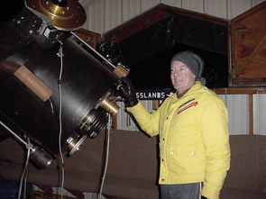 Amateur astronomer observers like Tim Hunter will compile information about asteroids. These observations directly support NASA's OSIRIS-REx asteroid sample return mission and aid future mission designers and scientists. Citizen scientists' astronomy and photometry data will enable scientists to refine orbits, test models of the dynamical evolution and determine the composition of these objects. (Photo: Tim Hunter)