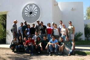 Students visit the Tohono O'odham Cultural Center and Museum near Sells, Ariz.(Credit: The Western Hemisphere Institute)