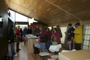 (Click to enlarge) Hundreds of visitors toured the UA's Solar Decathlon house in Washington, D.C.