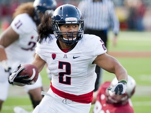 Arizona running back Keola Antolin. (Photo by Luke Adams)