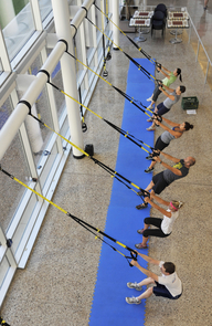 UA Campus Rec works to stay current on its offerings, providing TRX, yoga and other popular options to UA affiliates. (Photo courtesy of UA Campus Recreation)