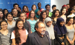 """""""One of the greatest things about education is that it is the great equalizer in the world,"""" U.S. Rep. Raúl Grijalva said during an event announcing the Upward Bound funding for the UA and Pima Community College. (Photo: Paul Schwalbach/Pima Community College)"""