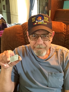 Thomas Lee Rhyner, a retired U.S. Air Force veteran, is the first to be reunited with his dog tag since the TOP Legacy program was launched at the UA.
