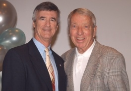 President Robert N. Shelton with Billy Joe Varney during the 2010 Staff Awards for Excellence ceremony. (Photo by Robert Walker)