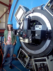 Vanessa Bailey helped integrate and optimize the Clio infrared instrument, which the team mounted to the Magellan telescope. Clio is part of the Magellan Adaptive Optics instrument suite led by UA astronomy professor Laird Close.