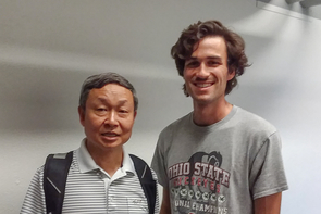 Professor Xubin Zeng and doctoral student Josh Welty (Photo: Stacy Pigott/UA News)