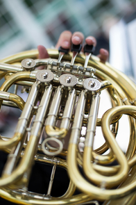 """Fred Fox wrote """"Essentials of Brass Playing,"""" still considered an authoritative source on brass technique 40 years after its publication. (Photo: Jacob Chinn/UA Alumni Association)"""