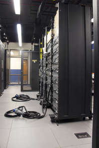 The UA's new supercomputer owes its high performance to its hybrid architecture of central processing units (CPUs) and graphical processing units (GPUs). (Photo: Cyrus Ahmadi/Office of the CIO)