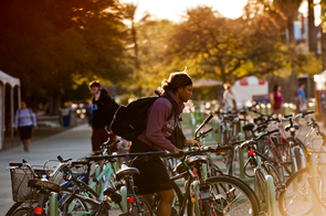 The UA takes a multitiered approach to sustainability, which includes the advancement of scholarly research, community outreach and campuswide green initiatives, including the encouragement of alternative modes of transportation.