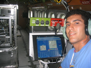 """Sorooshian has taken part in numerous aircraft-based field measurement projects in his career. """"The in-flight measurements often dictate decisions during a flight about a particular plume to chase or a cloud to profile,"""" he said. """"It is an exhilarating feeling to be up there."""""""