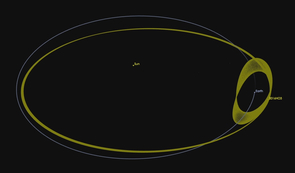 Just a space rock, not a tumbling rocket booster: Earth's traveling buddy 2016 HO3 is an asteroid that appears to orbit around Earth due to the mechanics of its peculiar orbit around the sun. (Credit: NASA JPL)