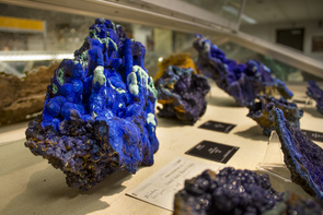 Part of the Princeton collection on display at the UA Mineral Museum (Photo: Bob Demers/UA News)