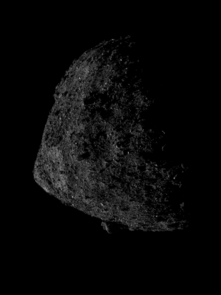 This image of asteroid Bennu was captured on June 13. Bennu's largest boulder can be seen protruding from the southern hemisphere. OSIRIS-REx broke the record for the closest distance a spacecraft has orbited a body in the solar system, and is now orbiting .4 miles (680 m) above Bennu's surface. (Image: NASA/Goddard/UA/Lockheed Martin)
