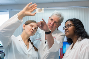 Meredith Hay (center), a professor of physiology, is also working on the study. (Photo: UArizona Research, Innovation and Impact)