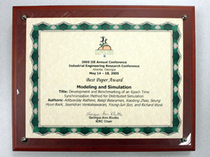 Modeling and Simulation Best Paper Award